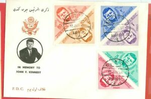 Jordan Topic JFK Kennedy Triangle Set of 6 on FDC Cover