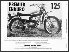 "1973 Premier 125 Enduro Trail Motorcycle photo ""Power-Packed"" vintage print ad"