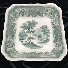 "Villeroy & Boch Burgenland Green 8-1/2"" Square Serving Bowl with Red Stamp"