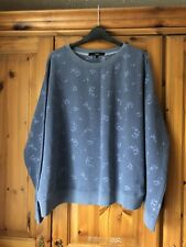 Next Blue Patterned Sweat Top Size Large