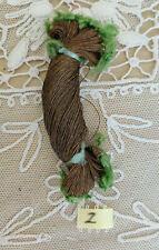 Antique 1920s French Hiawatha Tinsel Skein Metallic Gold Trim Thread Millinery
