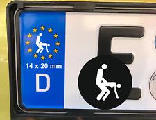 4x Nummernschild Aufkleber Sex Poppen Porno Ficken Bumsen Sticker Kennzeichen