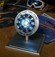 Marvel Iron Man Scale Arc Ark Heart Pioneer Reactor Model Kit Light Figures Prop