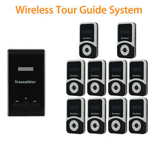 ATG100 Tour Guide Wireless System 1 Transmitter+10pcs 900mA Receiver Fr Training