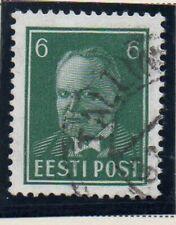Estonia Sc 123 1940 6s deep green President Pats stamp used