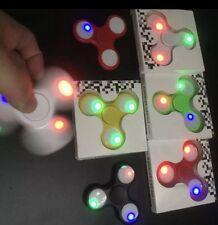 5pcs Lot 3 LED light Glowing Fidget Hand Spinner Finger Toy EDC Focus Gyro Kids