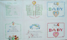 2009 susan branch ~ BABY LOVE ~ panel craft quilt squares fabric