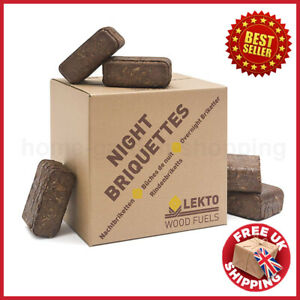 Night Briquettes 20KG Long Slow Burn Up To 8 Hours Overnight Day Firewood Stove