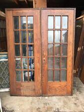 Cm 216 Match Pair Antique French Pocket Doors 60.5 X 80.5