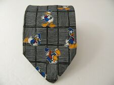DISNEY MICKEY DONALD DUCK SILK TIE SETA CRAVATTA MADE IN ITALY  A9258