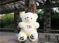 Soft Teddy bear plush stuffed toys doll gift for Valentine present 50cm white