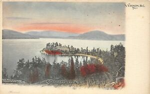 H46/ Vernon British Columbia Canada Postcard c1910 Okanagan Lake