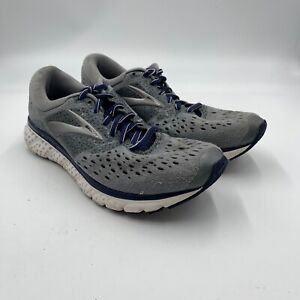Brooks Glycerin 16 Mens Size 8.5 D Gray Blue Running Shoes Lace Up