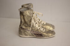 PUMA Eskiva Hi Gold Metallic Lace Up Leather Sneaker Boot Bootie - 6.5US  (B72)