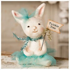"""Bethany Lowe Mom and Baby Taking a Ride Easter Bunny White Rabbit 6.5/"""" Figure"""