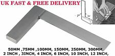 """4"""" inch (100mm) STEEL TRY SQUARE PRECISION RIGHT ANGLE MEASURE Engineer's Tool"""