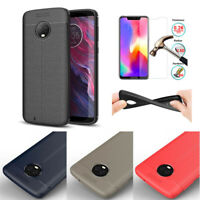 Ultra-Thin Soft TPU Leather Case Cover For Motorola Moto G7/Z4 Play G7 Power E6