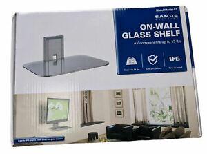 Sanus VuePoint FPA400-B2 On Wall Glass Shelf for AV Boxes, Satellite, DVD etc