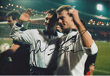 Alan SHEARER & Gary LINEKER Signed Autograph Photo AFTAL COA England Football