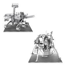 Set of 2 Metal Earth 3D Laser Cut Model Kits Apollo Lunar Module & Mars Rover