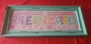 A Mermaid Sleeps Here Painted Sign