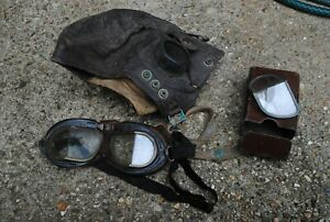 RAF pilot flying hat and goggles