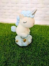 "New Desktop Decorations- Baby blue Unicorn- Super Cute and it ""wabbles""!!"