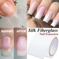 Nail Repair Fiberglass Silk Wrap Self Adhesive Reinforce Extension Sticker Tool