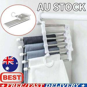 5 in 1 Multi-functional Pants rack Stainless-Steel Wardrobe Magic Hanger 2021 AU