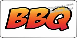 BBQ Barbeque DECAL (CHOOSE SIZE) Concession Food Truck Vinyl Signs Sticker