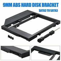 9.0mm Universal SATA 2nd HDD SSD Hard Drive Caddy for CD/DVD-ROM Optical Bay AU