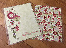 Xmas Ornaments Personalized Front/Back Cover Set 4 use w Erin Condren Planner