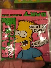 Vintage Bart Simpson Bubble Gum 1990