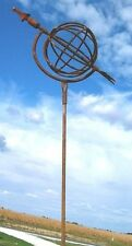 Sundial Garden Stake Home Decor Metal Yard Ornament Rustic Art