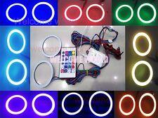 2X 80mm Angel Eyes Halo Ring COB Flash LED Blub Multicolor RGB + Controller G124