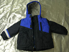 2eeaada04 Toddler Jacket Blue and White Healthtex Double Coat Size 18 Months EUC