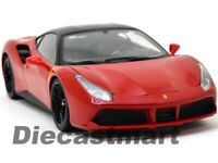 BBURAGO SIGNATURE 16905 1:18 FERRARI 488 GTB DIECAST MDOEL CAR RED NEW 2016
