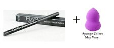 Max Factor MAXeye Liner Eyeliner Smoke Alarm #120, 0.01 oz + Makeup Sponge