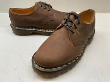 Women's Dr. Martens 3 Eye Lace-Up Shoe Brown Oil Leather ACH1561zben UK 3 US 5