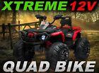 Xtreme 12V Childrens Ride On Electric Quad ATV Car Four-Wheel Suspension MP3 Red