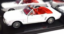 1:18  Motormax 1964 1/2 Ford Mustang Convertible ,white with red interior