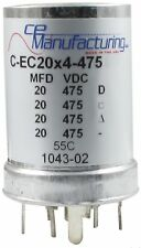 CE Manufacturing Multi Section Mallory FP Can Capacitor, 20/20/20/20µf @ 475VDC