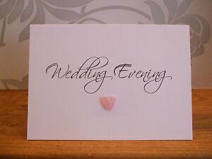 Handmade Single Heart Evening Wedding Reception Invitations