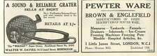 1926 Walter W Davies Birmingham Grater Brown And Englefield Pewter Old Advert