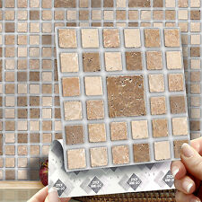 8 Roman Mosaic Stick On Self Adhesive Wall Tile Stickers For Kitchen & Bathroom