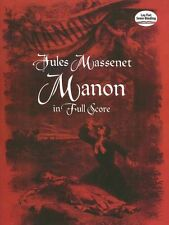 Jules Massenet Manon In Full Score Play French Classical Orchestra Music Book