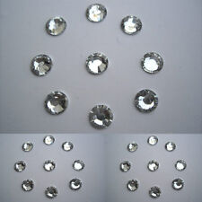 1000x3mm Crystal Clear Round 14 facet Resin Rhinestone Nail Art Gems/cardmaking