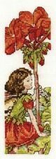 "The Geranium Flower Fairy Bookmark Cross Stitch Kit - 2"" x 6.5"" - DMC"