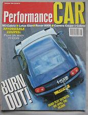 Performance Car 09/1994 featuring Lotus Elan, TVR Chimaera, Caterham, Rover, VW