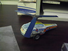 Vintage Tin Friction Police Helicopter Le Mezarugyar Marked